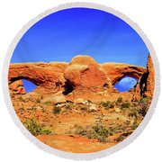 Arches Moon Eye Round Beach Towel