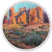 Arches National Park II Round Beach Towel