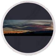 Arizona Sunset Panorama Round Beach Towel