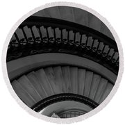 Arlington Stairs Layers Grayscale Round Beach Towel