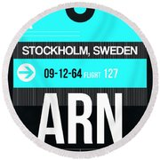 Arn Stockholm Luggage Tag II Round Beach Towel