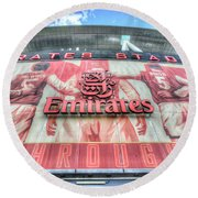 Arsenal Fc Stadium London Round Beach Towel