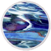 Art Upon The Water Round Beach Towel