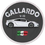 Lamborghini Gallardo Round Beach Towel by Mark Rogan