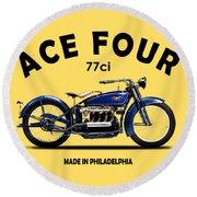 Ace Four 1925 Round Beach Towel by Mark Rogan
