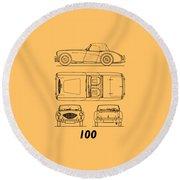 The Austin-healey 100 Round Beach Towel