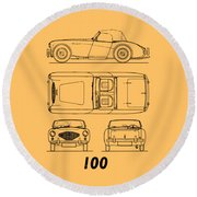 The Austin-healey 100 Round Beach Towel