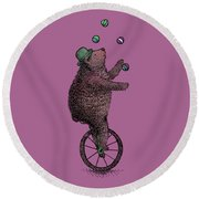 The Juggler Round Beach Towel by Eric Fan