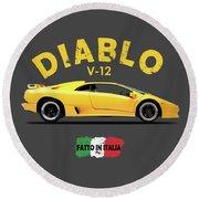 The Lamborghini Diablo Round Beach Towel