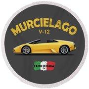The Lamborghini Murcielago Round Beach Towel