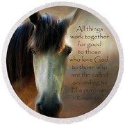 If Horses Could Talk - Verse Round Beach Towel