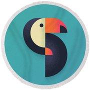 Toucan Geometric - Single Round Beach Towel