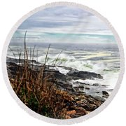 Blustry Passion Round Beach Towel