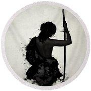 Female Samurai - Onna Bugeisha Round Beach Towel