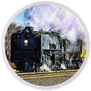 Up 844 Movin' On - Artistic Round Beach Towel
