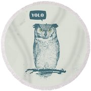 Yolo Round Beach Towel