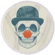 Dead Clown Round Beach Towel