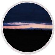 Mount Mansfield September Sunrise One Round Beach Towel