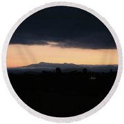Mount Mansfield September Sunrise Two Round Beach Towel