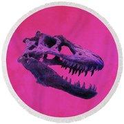 T-rex Round Beach Towel
