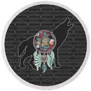 Wolf Native American Animal Spirit Dream Catcher Digital Art By Doreen Erhardt