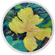 Dancing Flower Round Beach Towel