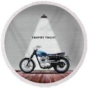 Triumph Trophy Tr6 Round Beach Towel