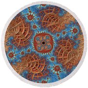 Assimilation In Progress Round Beach Towel