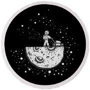 Astronaut Mowing The Moon Tshirt Acrylic Print