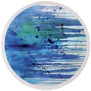 At The Shore Round Beach Towel