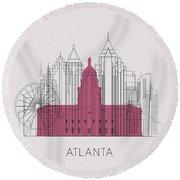 Atlanta Landmarks Round Beach Towel