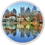 Atlanta Reflected Round Beach Towel