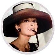 Audrey Hepburn Round Beach Towel