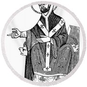 Augustine Of Hippo Round Beach Towel