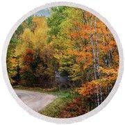 Autumn Buck  Round Beach Towel by Patti Deters