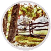 Autumn In Doughton Ap Round Beach Towel