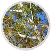 Autumn Is In The Air Round Beach Towel