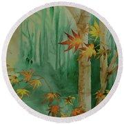 Autumn Leaves - #1 Round Beach Towel