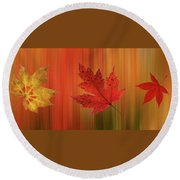 Autumn Spirit Panoramic Round Beach Towel