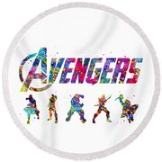 Avengers Team Round Beach Towel