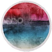 Awakened 4-  Abstract Art By Linda Woods Round Beach Towel
