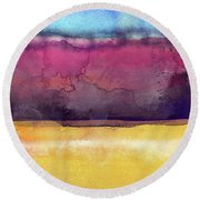Awakened 6- Art By Linda Woods Round Beach Towel