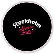 Bachelor Party Shirt Stockholm Pre Wedding Celebration Tee Round Beach Towel