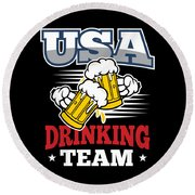 Bachelor Party Usa Drinking Team Beer Party Cheers Gift Round Beach Towel