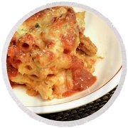 Baked Ziti Serving 2 Round Beach Towel