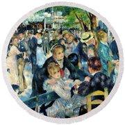 Bal Du Moulin De La Galette - Digital Remastered Edition Round Beach Towel