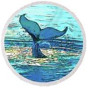Balene-whales Round Beach Towel