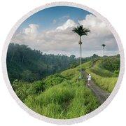 Bali Pathway Round Beach Towel