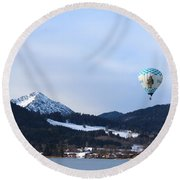 Balloons Over Tegernsee Round Beach Towel