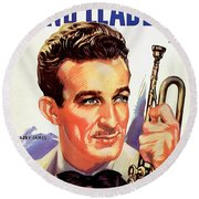 Band Leaders Harry James, 1931 Poster Round Beach Towel